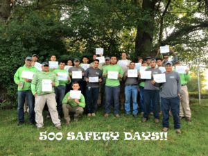 Allentuck Landscaping Co. Celebrates 500 Safety Days Without An Injury